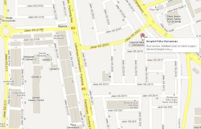 Map Jalan SS20/21 from Damansara Uptown to TTDI