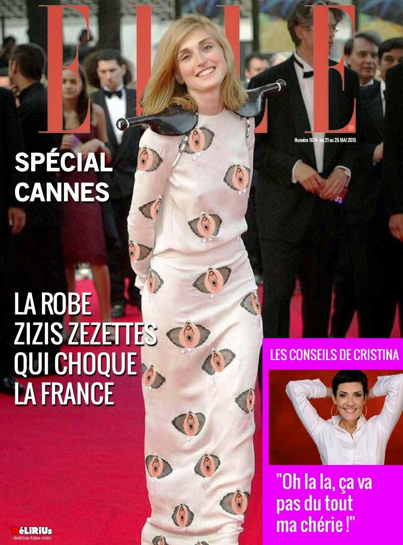 Julie Gayet en couverture de ELLE