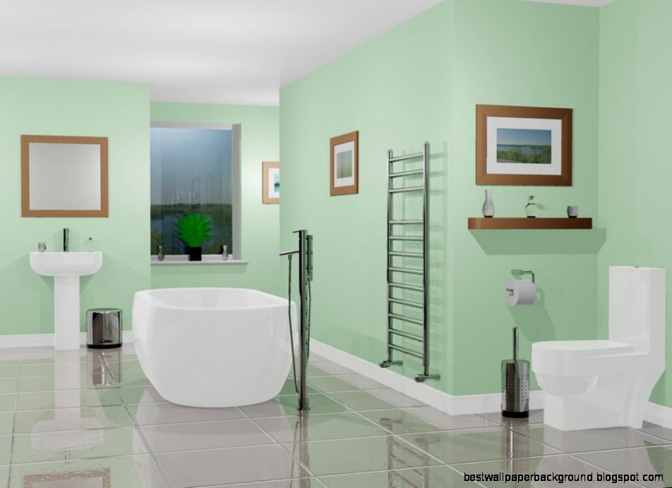Green Bathroom Wallpapers and Background