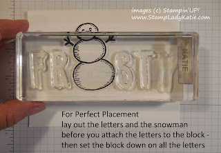 Frosty the Snowman Card made with Stampin'UP! Snow Place  and Layered Letters Stamp Sets
