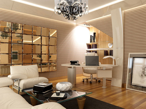 Incredible gadgets interior designing 3d art digital art for Director office interior design