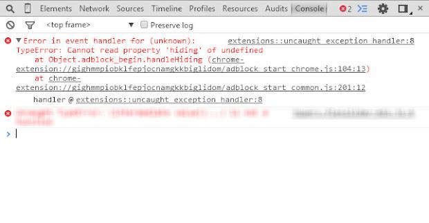 Error BetaFish Adblocker
