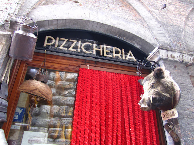 Pizzicheria in Siena, Italy.