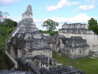 A close-up of a temple in the ancient Maya city of Tikal, Guatemala. Credit: PSU