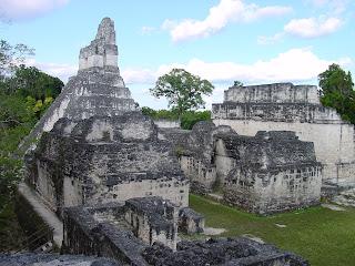 A close-up of a temple in the ancient Maya city of Tikal, Guatemala. Credit: PSU