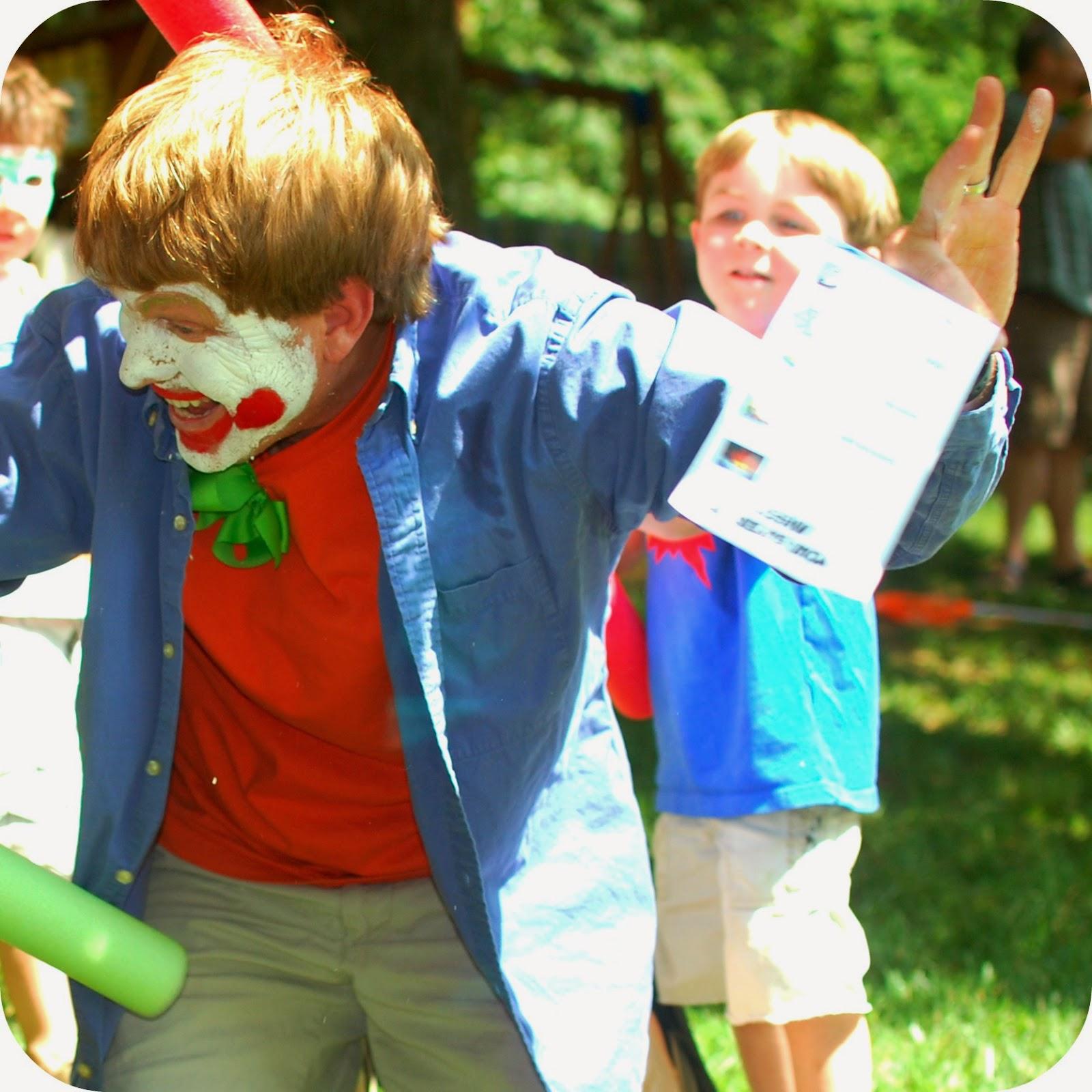 Superhero birthday party games