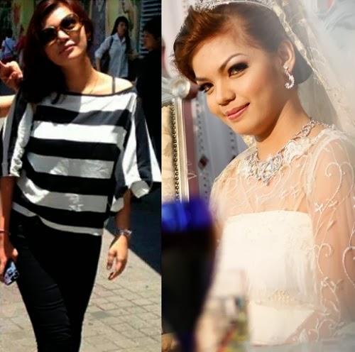 Gambar Siti Aisya Adam, isteri Matyo yang cantik menawan
