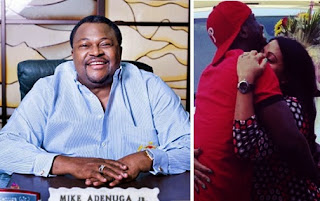 Mike Adenuga Globacom Boss if the Father of the Day for Peter Okoye's Wedding.