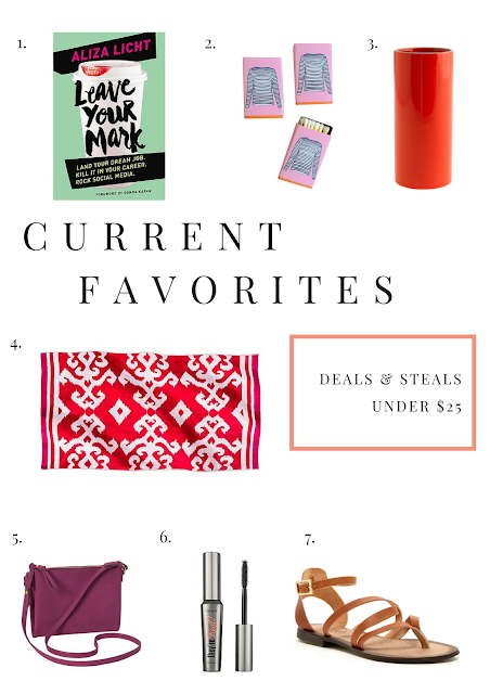 Current Favorites, Fashion, Accessories, Deals, Project Soiree