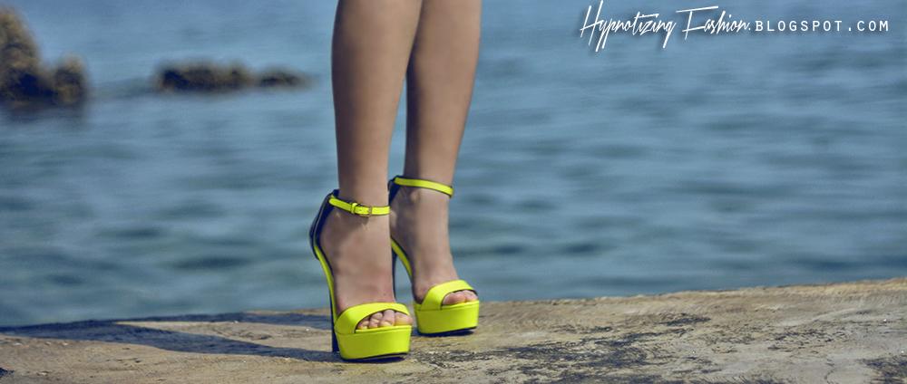 wilady neonowe sandały