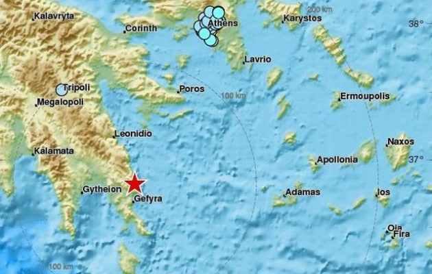 Σεισμός στη Μονεμβασιά ταρακούνησε και την Αθήνα στις 02.42 π.μ.