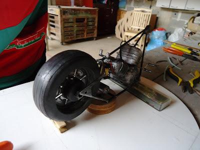 Quadro de moto Miniatura