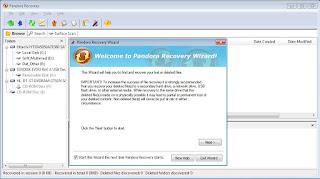 Mengembalikan File dengan Software Pandora Recovery 1