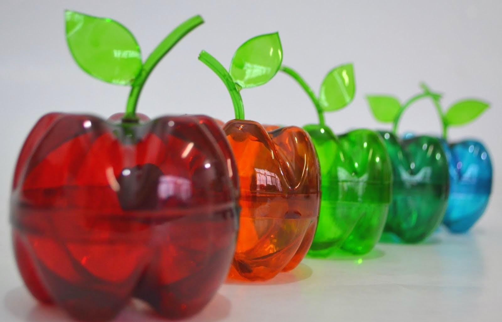 Como Hacer Manzana de Botellas Plásticas Paso a Paso VÍDEO TUTORIAL