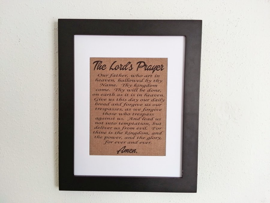 New Orleans Crafts By Design The Lord S Prayer 11x14