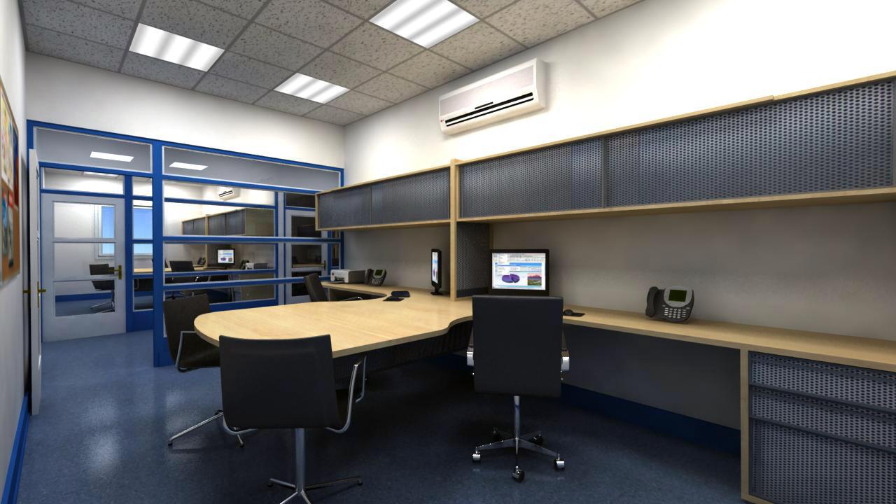 3d proyectual remodelacion oficinas mel for Remodelacion oficinas