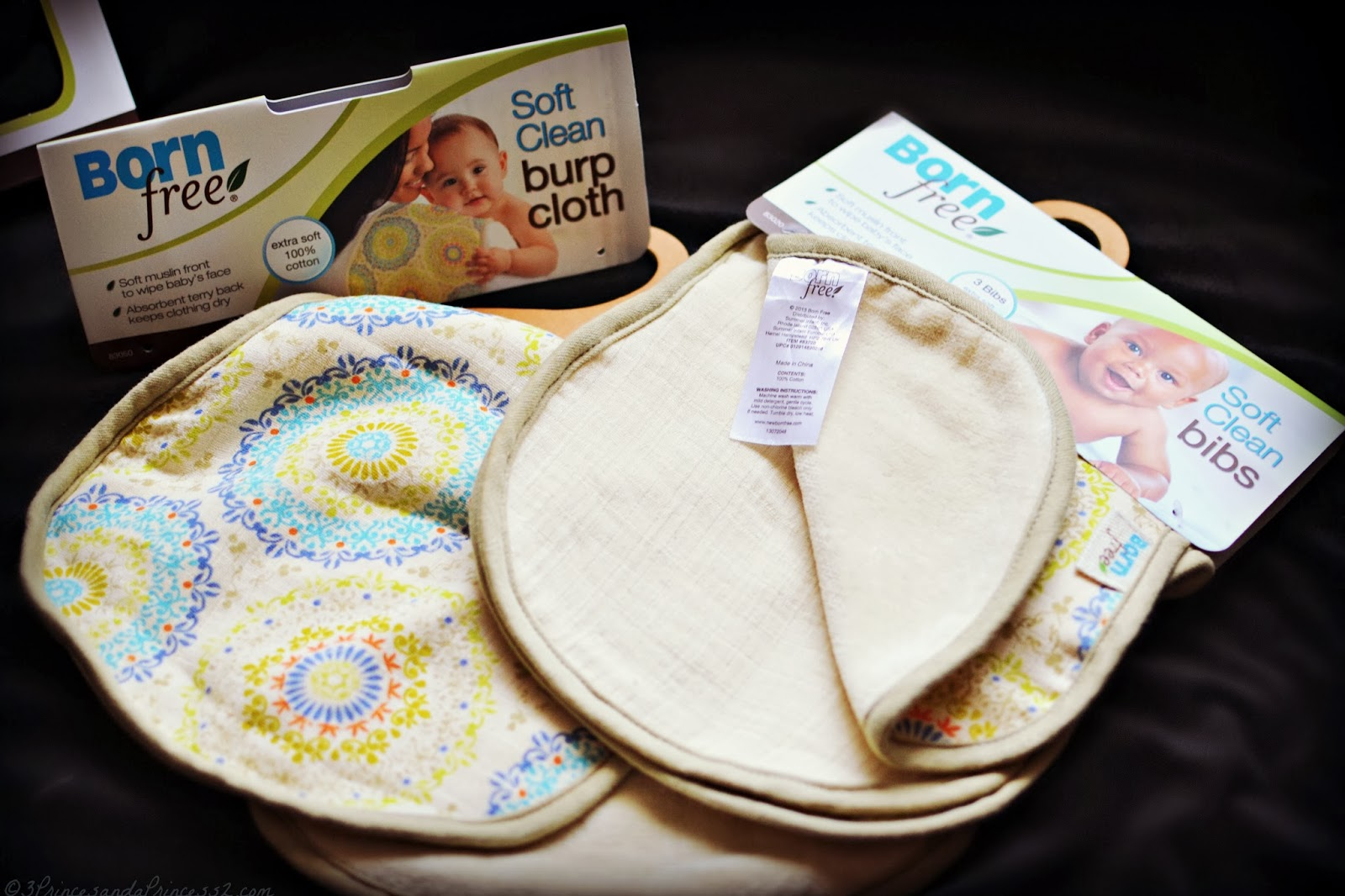 Born Free Bibs and Burp Cloths