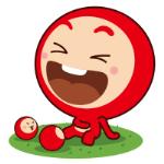 emoticones de peluche rojo alegre