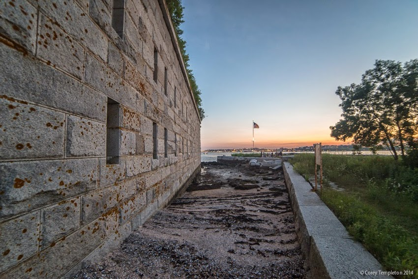Fort Gorges in Portland, Maine July 2014 Summer New England City History photo by Corey Templeton