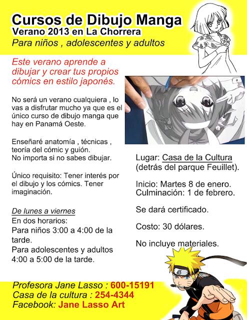 Curso de dibujo manga en Panamá.