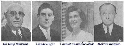 Fotografías de Dr. Ossip Bernstein, Claude Hugot Chantal de Silans y Maurice Raizman