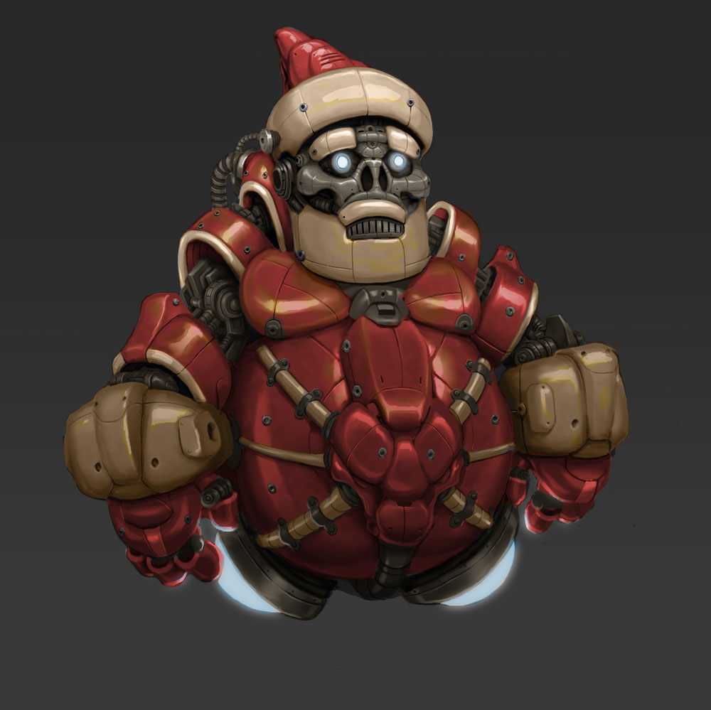 "DSG 1629: Seasonal Sci-Fi • HEAVY-LOOKING ROBOT IS AFFECTIONATELY KNOWN AS ""SANTA"""
