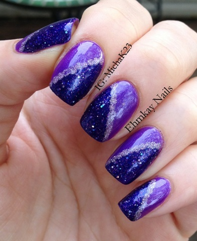 ehmkay nails: Purple Nails for World Lupus Awareness Month