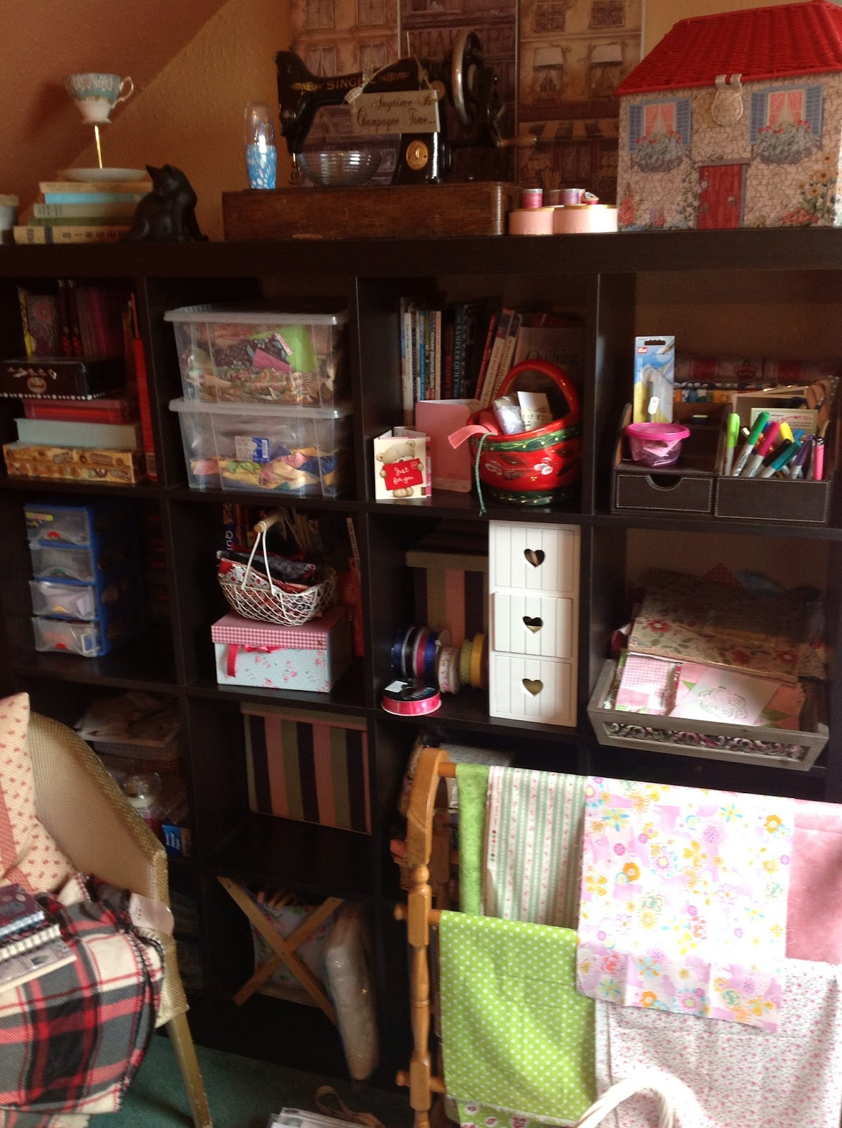 glinda quilts  sewing room tidy up