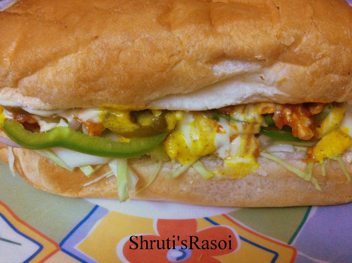 shruti rasoi sub sandwich inspired by subway