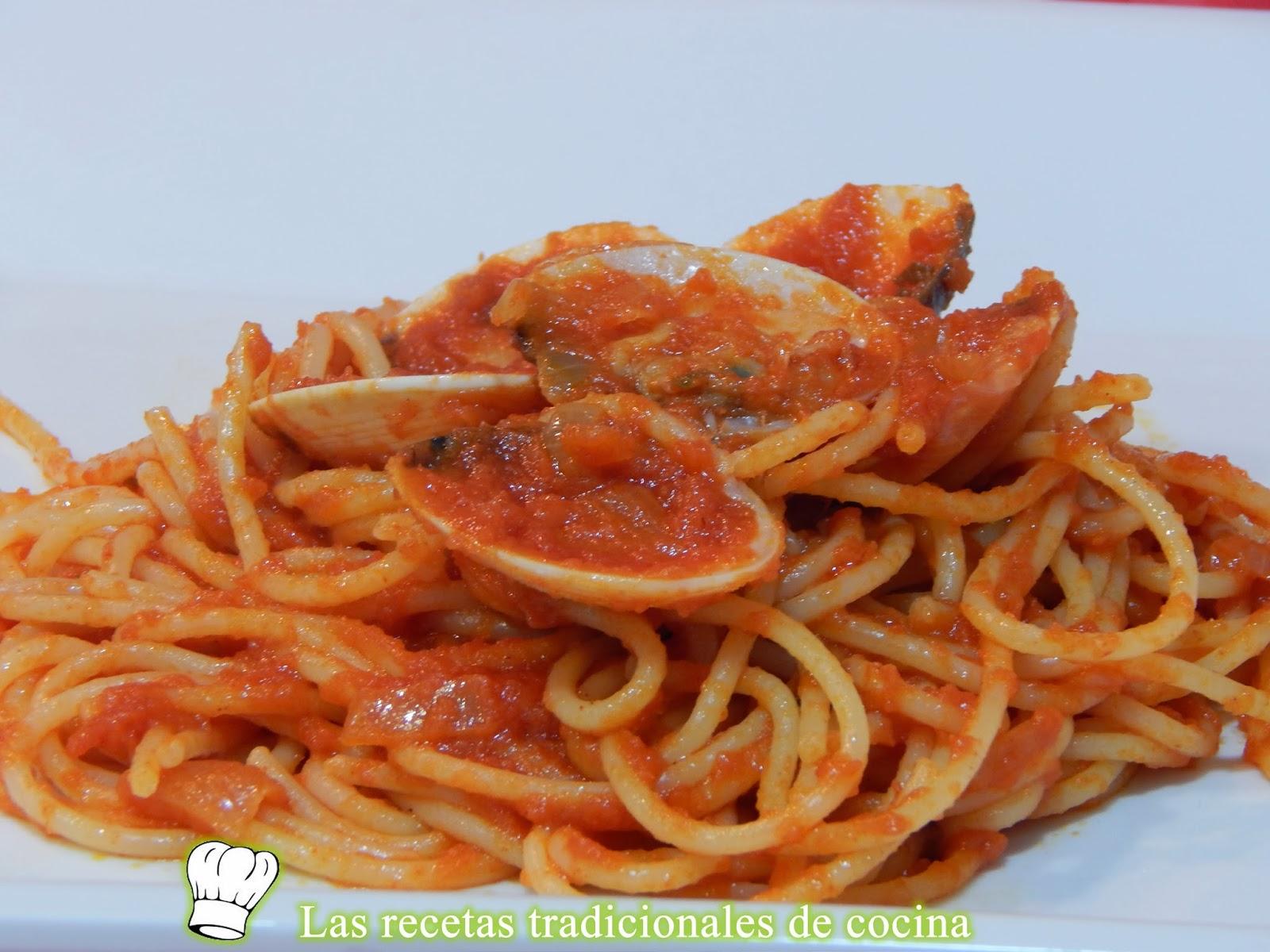 Como hacer espaguetis con almejas recetas de cocina con for Como preparar almejas en salsa