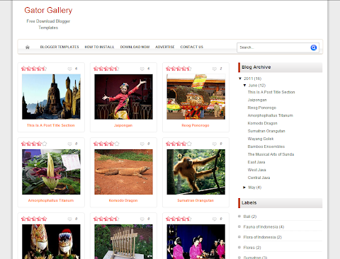 Gator Gallery Blogger Theme