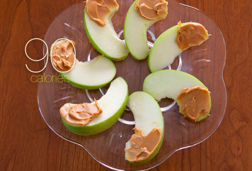 peanut butter and apples