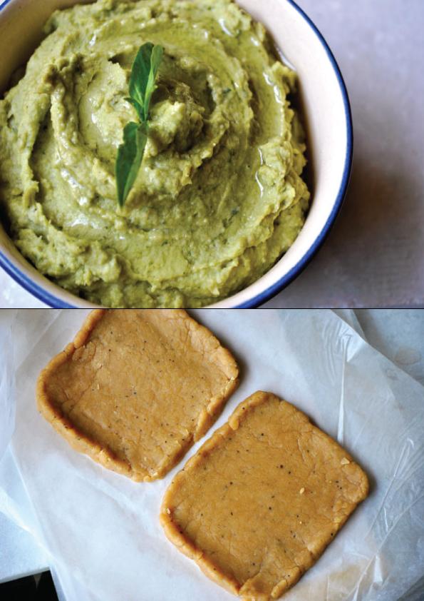 The Tasty BItes: Roasted Vegetables with Basil Hummus Tart