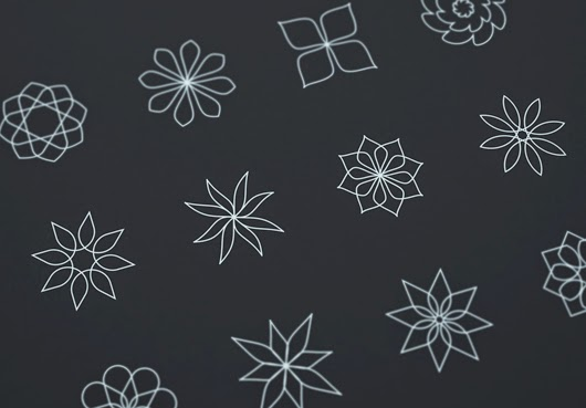 Abstract Flower Line Icons Free