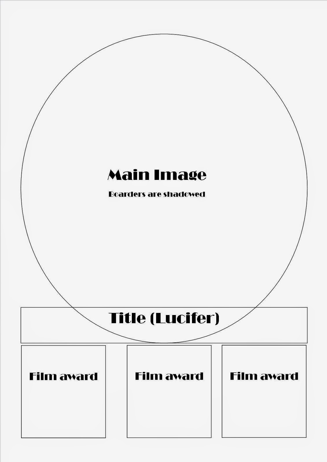 A2 media work : Drafting and planning - Film poster template