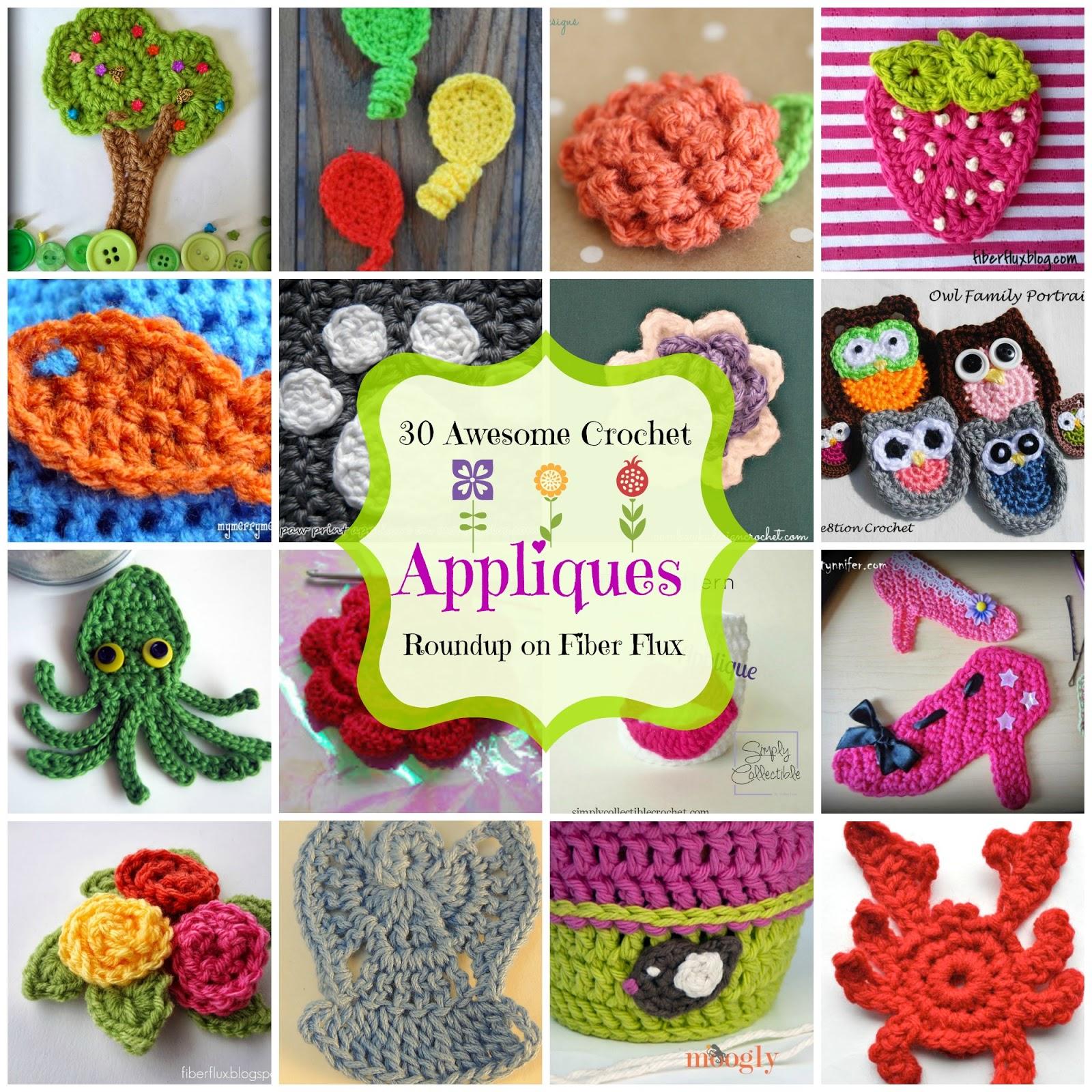 Fiber Flux 30 Awesome Appliques A Crochet Applique Roundup