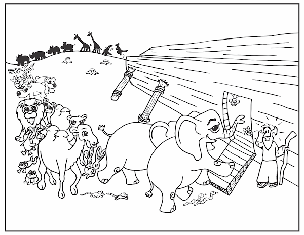 Free Noah Ark Coloring Pages Of Animals