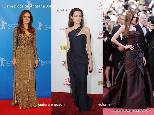 Vestidos de festa da Angelina Jolie