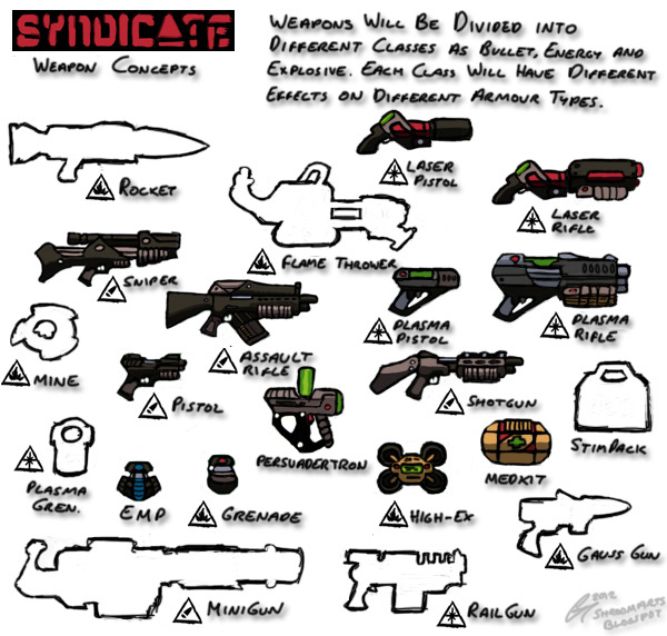 Syndicate - Weapon Concepts