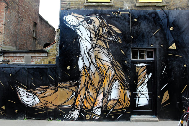 DZIA is currently in the UK where he spent a day working on this brand new piece on the streets of East London.