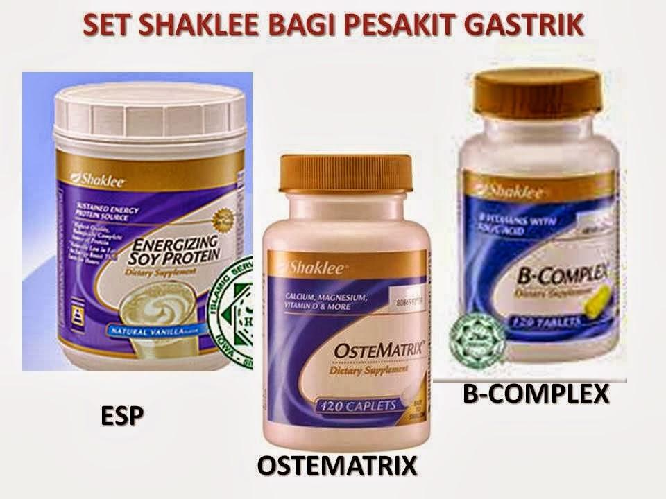 gastrik, shaklee, b complex, Ostematrix, ESP