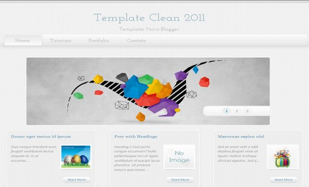 Free Vector Grunge Clean Blogger Layout Template