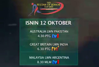 Malaysia Vs Argentina Hoki Piala Sultan Johor 12 Oktober 2015