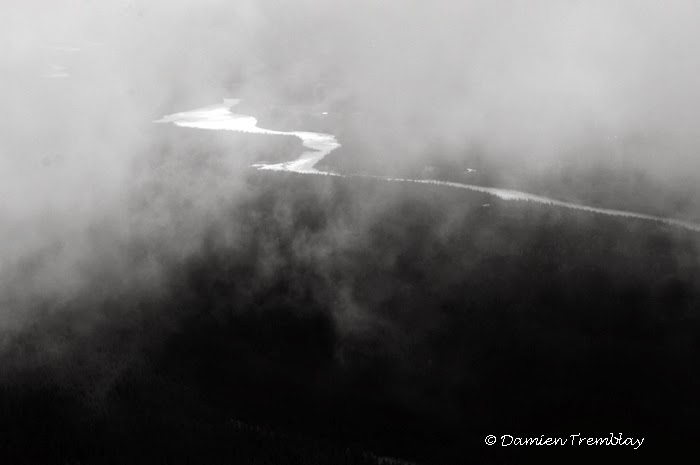 """White Promise"", Yukon River Valley and fog.."