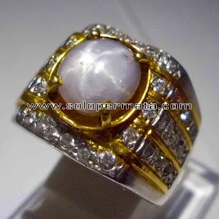 Batu Permata Sapphire Star | Grey Sapphire Star