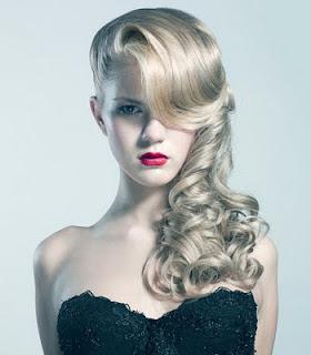 Peinados con rizos elegantes 2012 peinados para fiestas - Peinados de fiesta con rizos ...