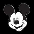 cara de Mickey mouse feliz