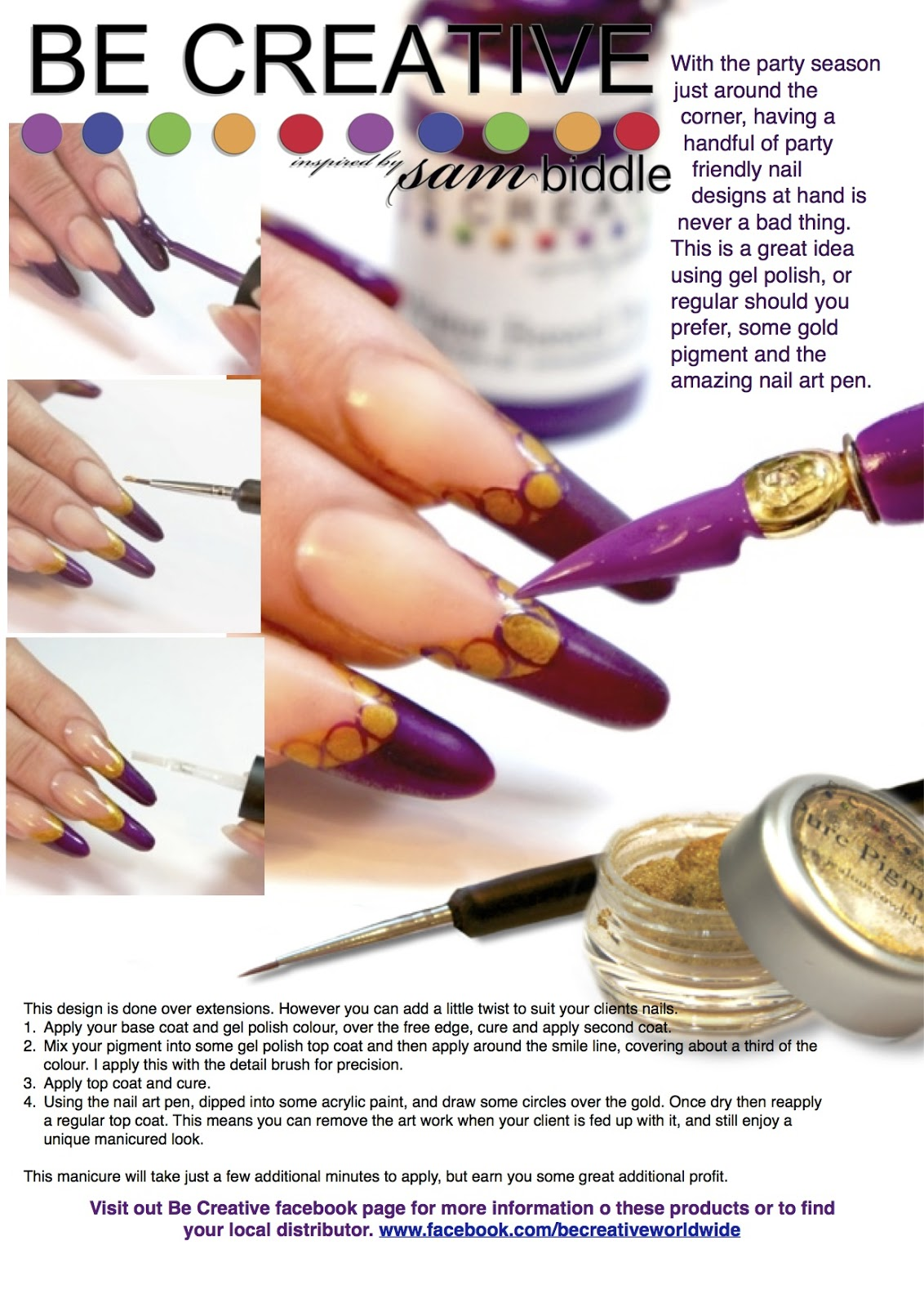 Be Creative Step By Step Using Nail Art Pen
