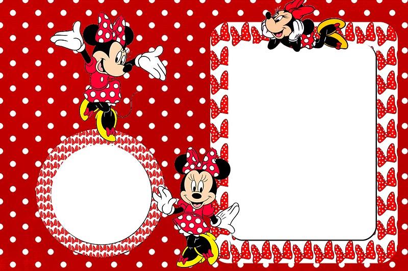 Minnie Vermelha     Kit Completo De Molduras Para Convites  R  Tulos