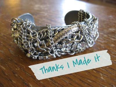 Thanks I Made It Chain DIY Dannijo Cuff